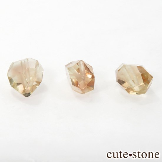 【粒売り】 オレゴンサンストーン AAA タンブルカット 3粒セットの写真1 cute stone