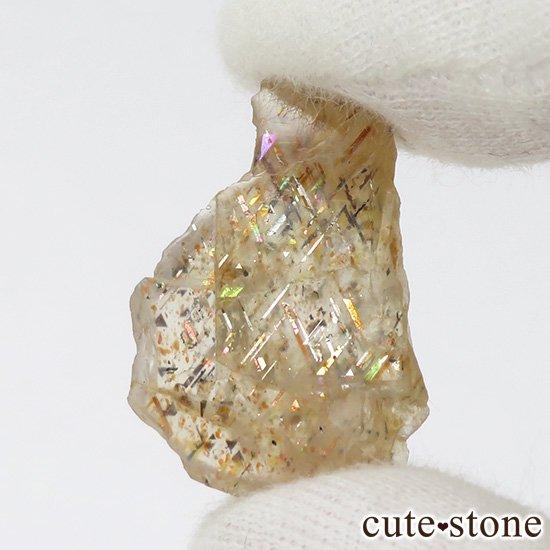レインボーラティスサンストーンのスライス(原石)2.3gの写真0 cute stone