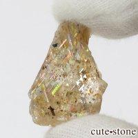 レインボーラティスサンストーンのスライス(原石)2.3gの画像