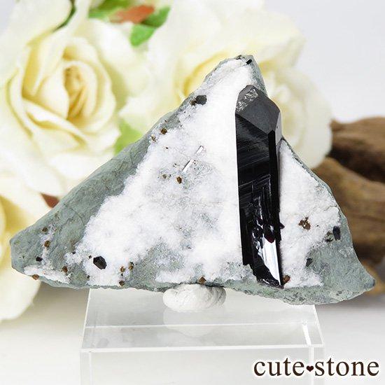 カリフォルニア産 ネプチュナイトの母岩付き結晶(原石) 14g
