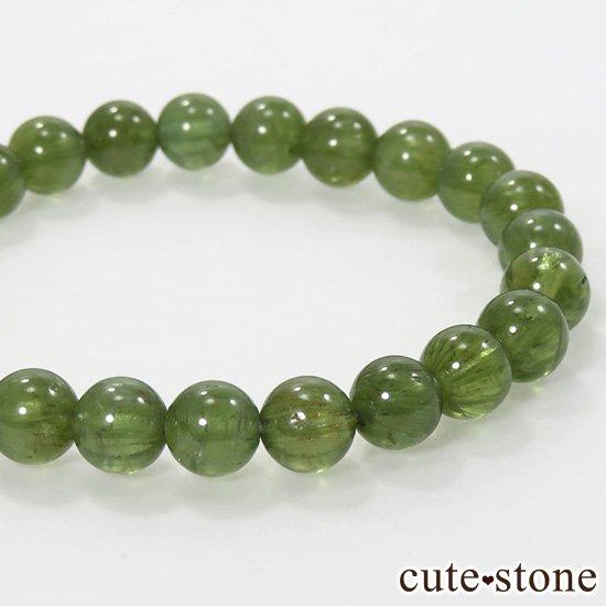 グリーンアパタイトのシンプルブレスレット 7.5mmの写真1 cute stone