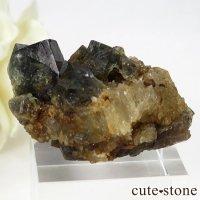 イングランド ダイアナマリア鉱山産 蛍光フローライトの母岩付き結晶(原石)28gの画像