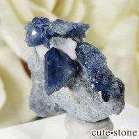 カリフォルニア産 ベニトアイトの母岩付き結晶(原石) 3gの画像