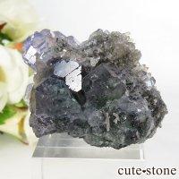 中国 福建省産パープルブルーフローライトの結晶(原石) 46.7gの画像