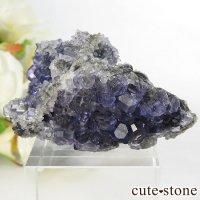 中国 福建省産パープルブルーフローライトの結晶(原石) 28.7gの画像