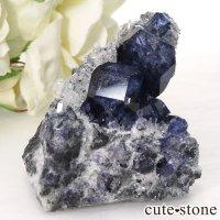 中国 福建省産パープルブルーフローライトの結晶(原石) 59.7gの画像