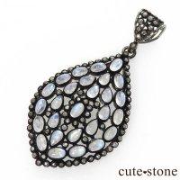マハラジャジュエリー レインボームーンストーン&ダイヤモンドのペンダントトップの画像