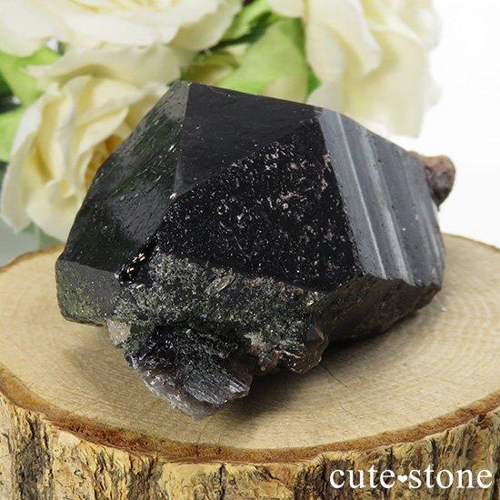 山東省産 モリオン(黒水晶)のシングルポイント(原石)88gの写真0 cute stone