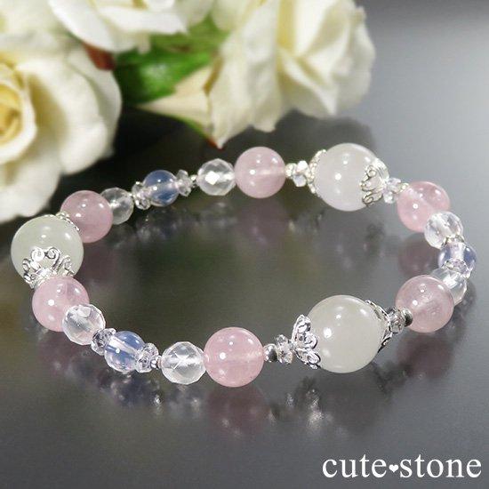 【春の訪れ】 翡翠 モルガナイト スコロライト ミルキークォーツのブレスレットの写真0 cute stone