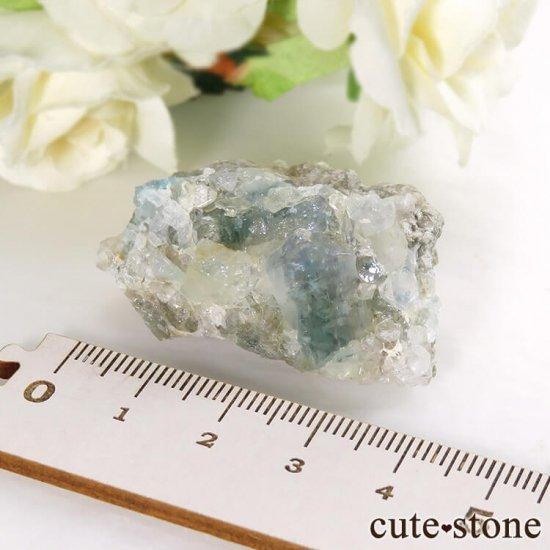 ブラジル産 ユークレースの母岩付き結晶(原石・クラスター) 25.8gの写真7 cute stone