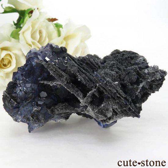 中国 福建省産パープルブルーフローライトの結晶(原石) 139g