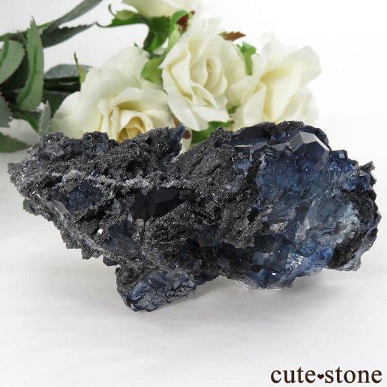中国 福建省産パープルブルーフローライトの結晶(原石) 139gの写真0 cute stone