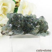 メキシコ産 ブルーグリーンフローライトの結晶(原石) 27gの画像