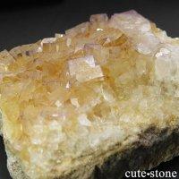 イングランド産 パープル×カラーレスフローライトの結晶(原石) 88gの画像