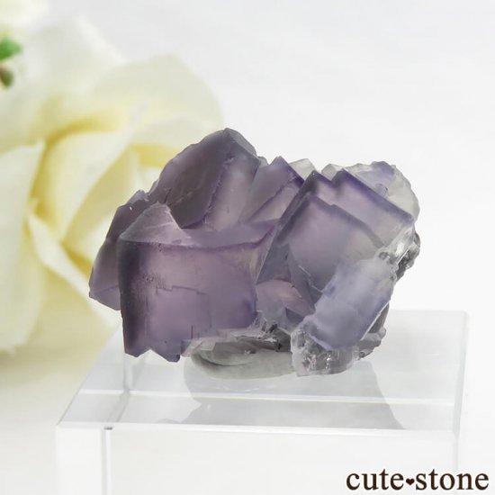 中国 雲南省産 パープル&グレーフローライトの結晶(原石) 9.9g