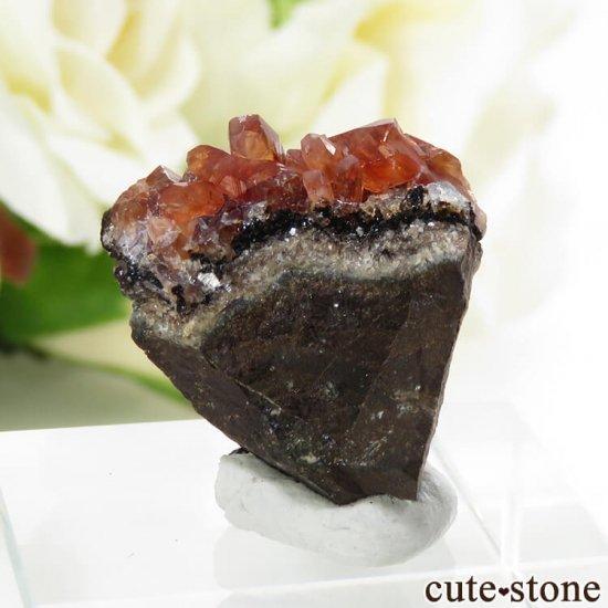 ペルー産 ロードクロサイト(インカローズ)の母岩付き結晶(原石) 5.9gの写真0 cute stone