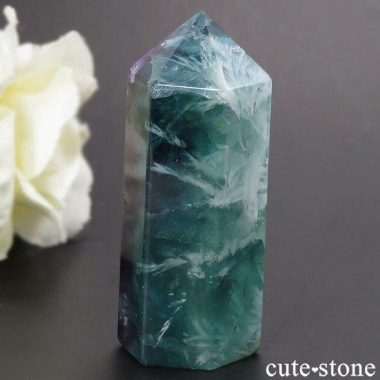 フェザーインフローライト(エンジェルフェザー)のポリッシュポイント 38.4gの写真1 cute stone