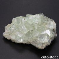 中国 Xianghualing Mine産 グリーンフローライトの母岩付き結晶(原石)68gの画像