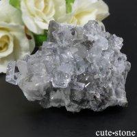 スペイン Emilio Mine産 カラーレスフローライトの母岩付き結晶(原石) 118gの画像