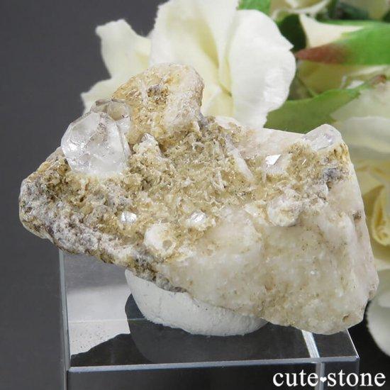 パキスタン スカルドゥ産 ホワイトトパーズの母岩付き結晶(原石)17.9g