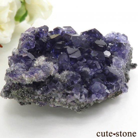 中国 福建省産パープルブルーフローライトの結晶(原石) 209gの写真0 cute stone