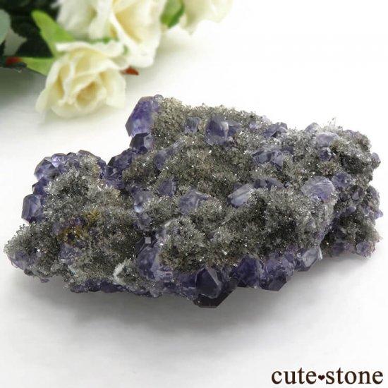中国 福建省産パープルブルーフローライトの結晶(原石) 209gの写真8 cute stone