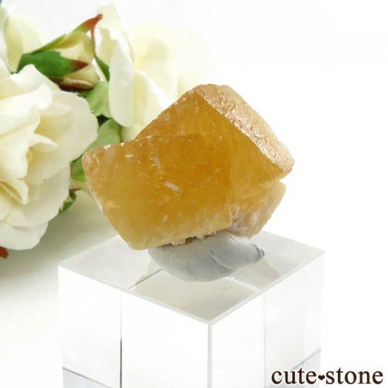 インド産 イエローカルサイト 19.6gの写真0 cute stone