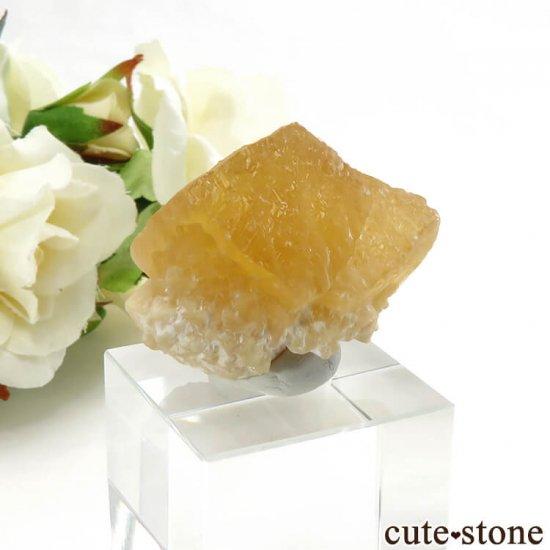 インド産 イエローカルサイト 19.6gの写真1 cute stone
