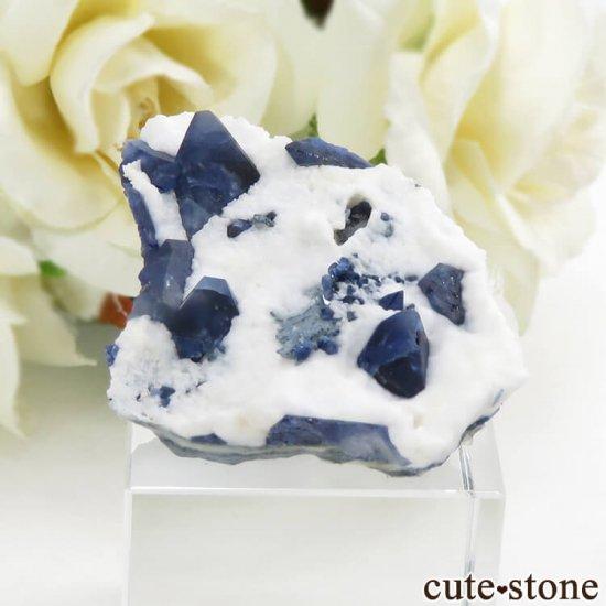 カリフォルニア産 ベニトアイトの母岩付き結晶(原石) 13.1g