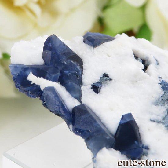 カリフォルニア産 ベニトアイトの母岩付き結晶(原石) 13.1gの写真3 cute stone