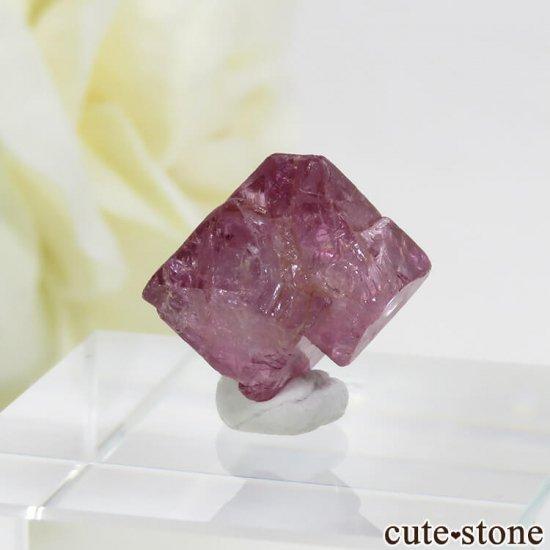 ミャンマー モゴク産 ピンクスピネルの結晶(原石)10.4ctの写真1 cute stone