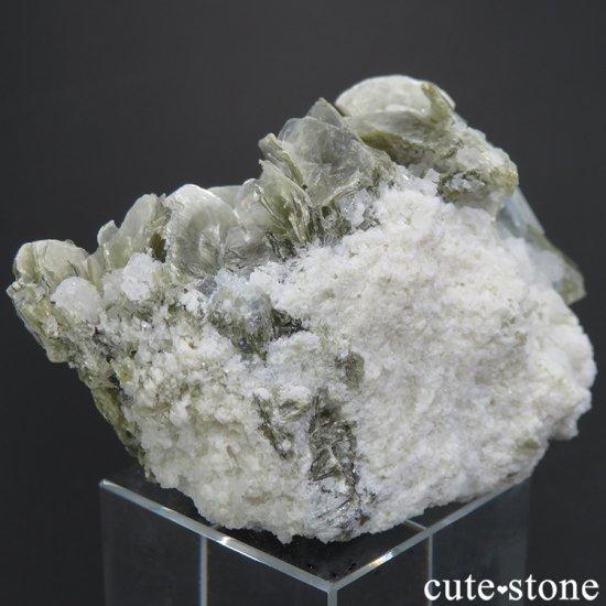 パキスタン産 アクアマリン&ピンクアパタイトの原石 65.7gの写真4 cute stone