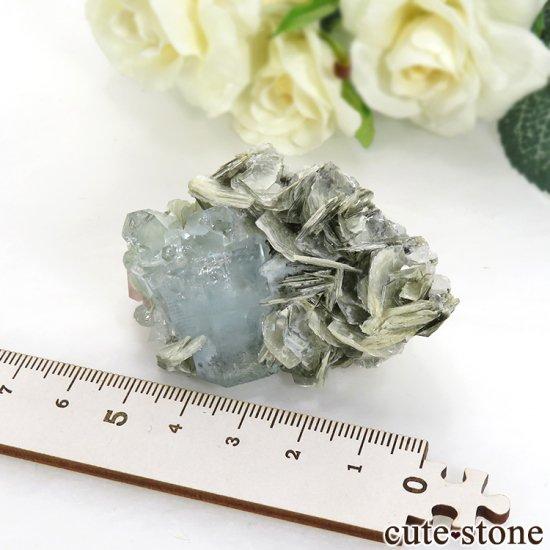 パキスタン産 アクアマリン&ピンクアパタイトの原石 65.7gの写真5 cute stone