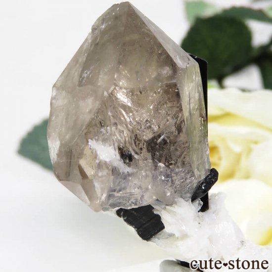 パキスタン スカルドゥ産 ブラックトルマリン&スモーキークォーツの原石 22.2gの写真0 cute stone