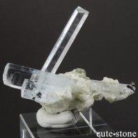 パキスタン スカルドゥ産 アクアマリンの結晶(原石)10.7gの画像