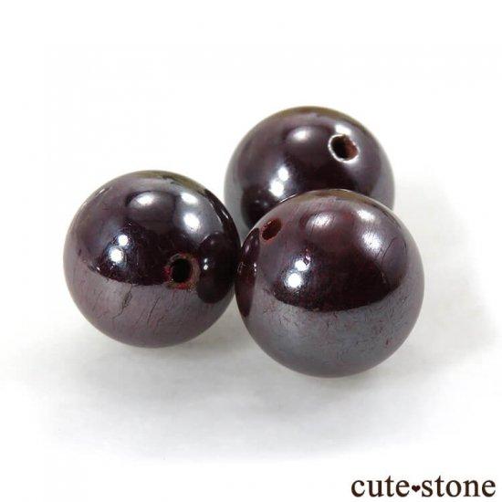 【粒売り】 貴州省産 シンシャ(辰砂・シナバー)11.5-12mmの写真0 cute stone