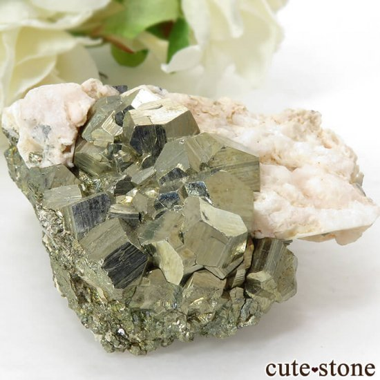 ペルー Huaron mines産 パイライトの原石 109gの写真0 cute stone