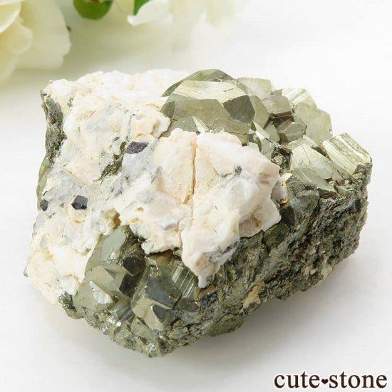 ペルー Huaron mines産 パイライトの原石 109gの写真2 cute stone