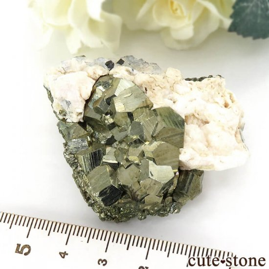 ペルー Huaron mines産 パイライトの原石 109gの写真3 cute stone