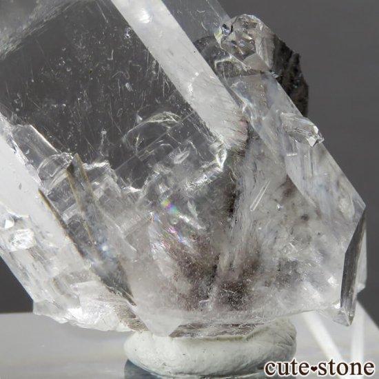パキスタン産 プラチナクォーツ(ブルッカイト&ルチルインクォーツ)の原石 22gの写真1 cute stone