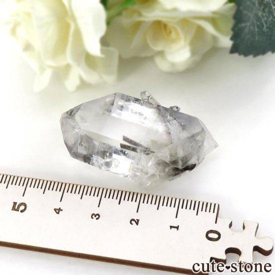 パキスタン産 プラチナクォーツ(ブルッカイト&ルチルインクォーツ)の原石 22gの写真4 cute stone