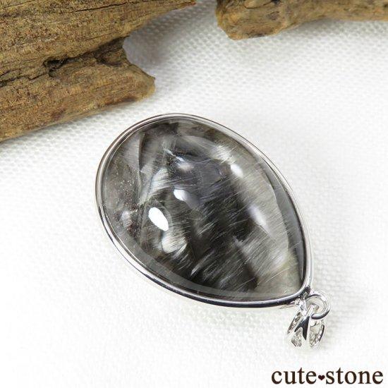 プラチナクォーツ(プラチナルチル)のドロップ型ペンダントトップの写真1 cute stone