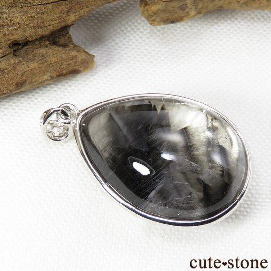プラチナクォーツ(プラチナルチル)のドロップ型ペンダントトップの写真2 cute stone