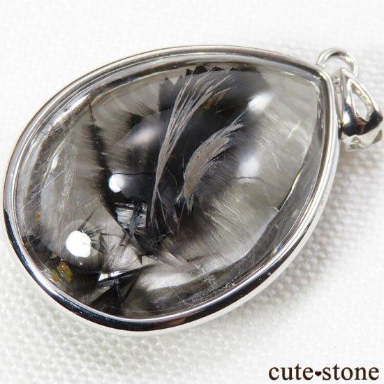 プラチナクォーツ(プラチナルチル)のドロップ型ペンダントトップの写真4 cute stone