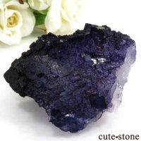 メキシコ Tule Mine産 パープルブルーフローライトの結晶(原石)127gの画像
