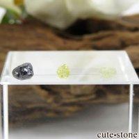 ザンビア産 ダイヤモンドの原石 3点セット No.1の画像