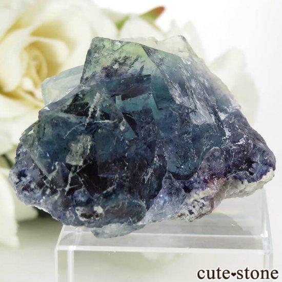 中国 内モンゴル産 ブルーフローライトの原石 32.4gの写真0 cute stone
