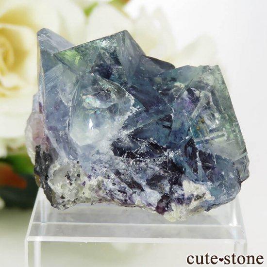 中国 内モンゴル産 ブルーフローライトの原石 32.4gの写真1 cute stone
