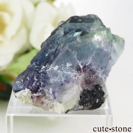 中国 内モンゴル産 ブルーフローライトの原石 32.4gの写真2 cute stone