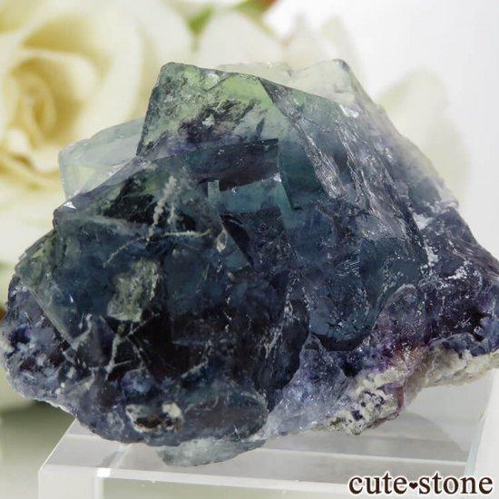 中国 内モンゴル産 ブルーフローライトの原石 32.4gの写真3 cute stone